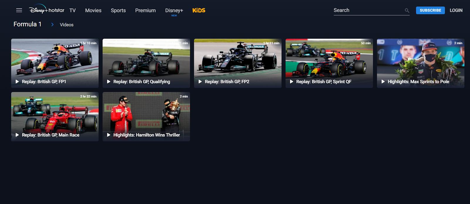 Watch Formula 1 on hostar sports